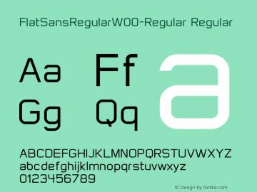 FlatSansRegular-Regular