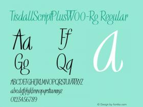TisdallScriptPlus-Rg