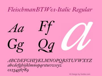 FleischmanBT-Italic