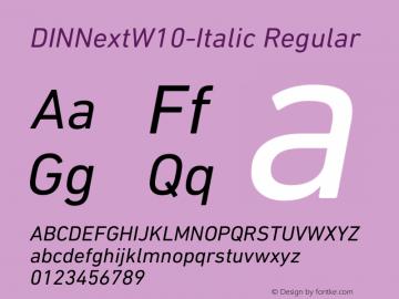 DINNext-Italic