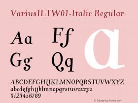 Varius1LT-Italic