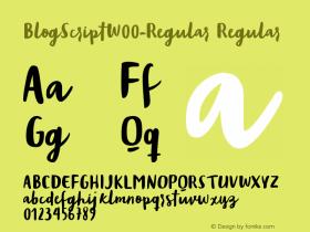 BlogScript-Regular