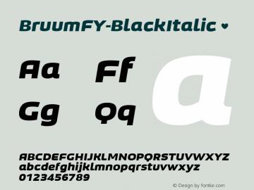 BruumFY-BlackItalic