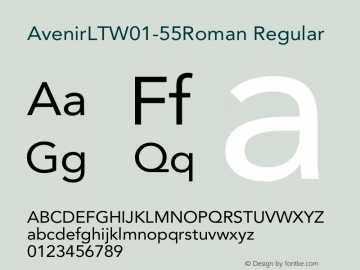 AvenirLT-55Roman