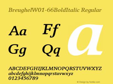 Breughel-66BoldItalic