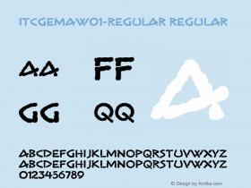 ITCGema-Regular