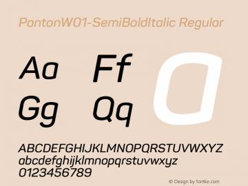 Panton-SemiBoldItalic