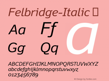 Felbridge-Italic