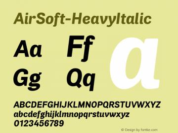 AirSoft-HeavyItalic