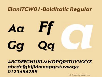 ElanITC-BoldItalic