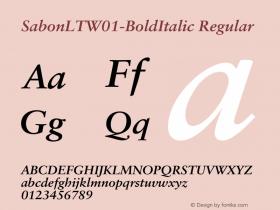 SabonLT-BoldItalic