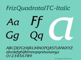FrizQuadrataITC-Italic