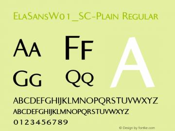 ElaSans_SC-Plain