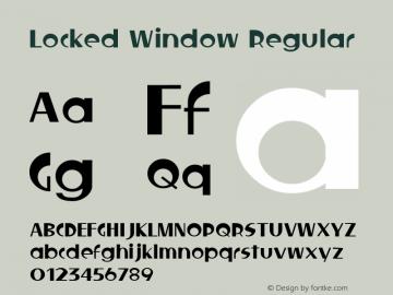 Locked Window