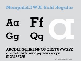 MemphisLT-Bold