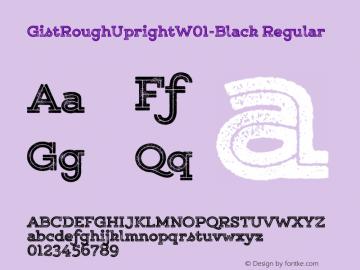 GistRoughUpright-Black