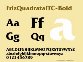 FrizQuadrataITC-Bold