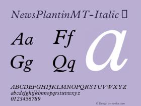 NewsPlantinMT-Italic