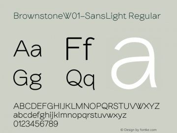 Brownstone-SansLight