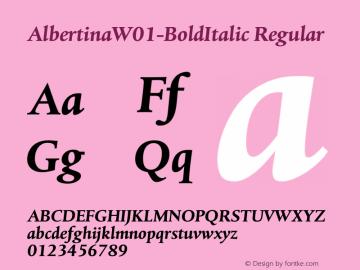Albertina-BoldItalic