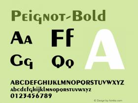 Peignot-Bold