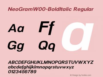 NeoGram-BoldItalic