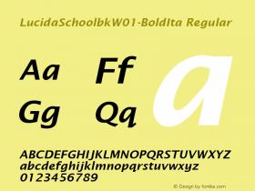LucidaSchoolbk-BoldIta