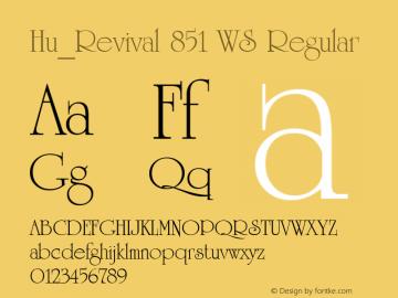 Hu_Revival 851 WS