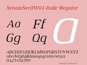 XenoisSerif-Italic