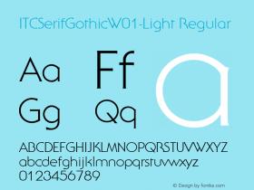 ITCSerifGothic-Light
