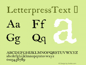 LetterpressText