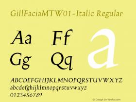 GillFaciaMT-Italic