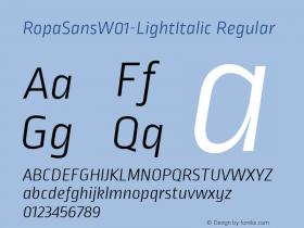 RopaSans-LightItalic