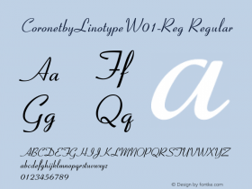 CoronetbyLinotype-Reg