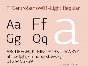 PFCentroSans-Light