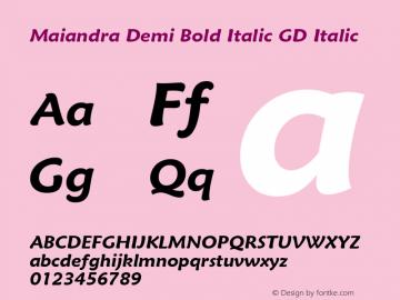 Maiandra Demi Bold Italic GD