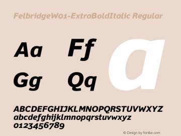 Felbridge-ExtraBoldItalic