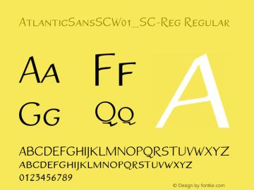 AtlanticSansSC_SC-Reg