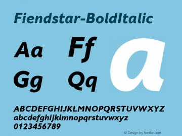 Fiendstar-BoldItalic