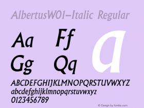 Albertus-Italic