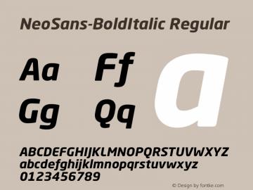 NeoSans-BoldItalic