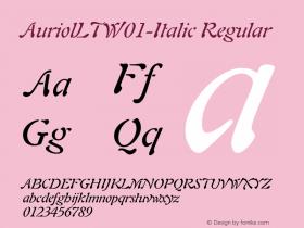 AuriolLT-Italic