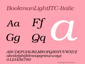 BookmanLightITC-Italic