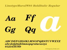 LinotypeMaral-BoldItalic