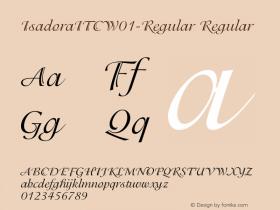 IsadoraITC-Regular
