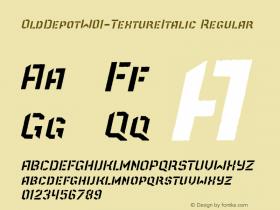OldDepot-TextureItalic