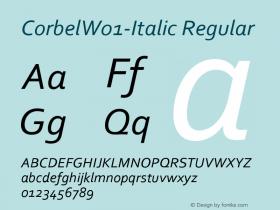 Corbel-Italic
