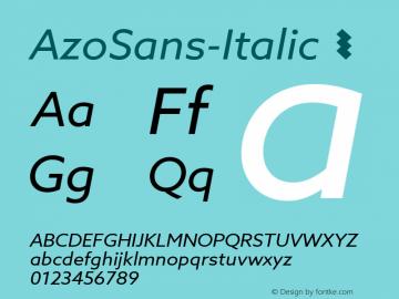 AzoSans-Italic