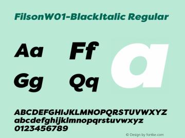 Filson-BlackItalic
