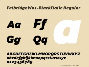 Felbridge-BlackItalic